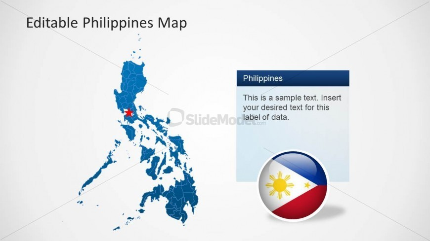 PPT Template of Philippines Map