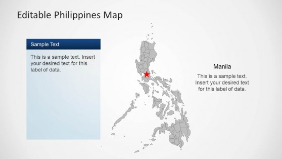 Philippines PowerPoint Map with States