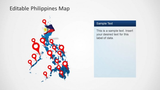 Philippines Political Outline Map for PowerPoint
