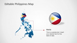 PowerPoint Map with Icon of Philippines