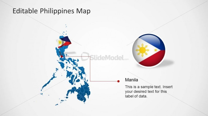 Philippines Map PPT Template w...