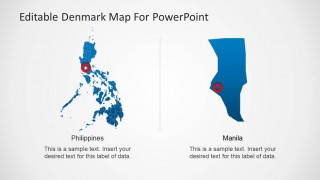 PPT Template of Philippines Political Outline Map
