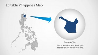 PowerPoint Map of Philippines with Northern State Highlighted