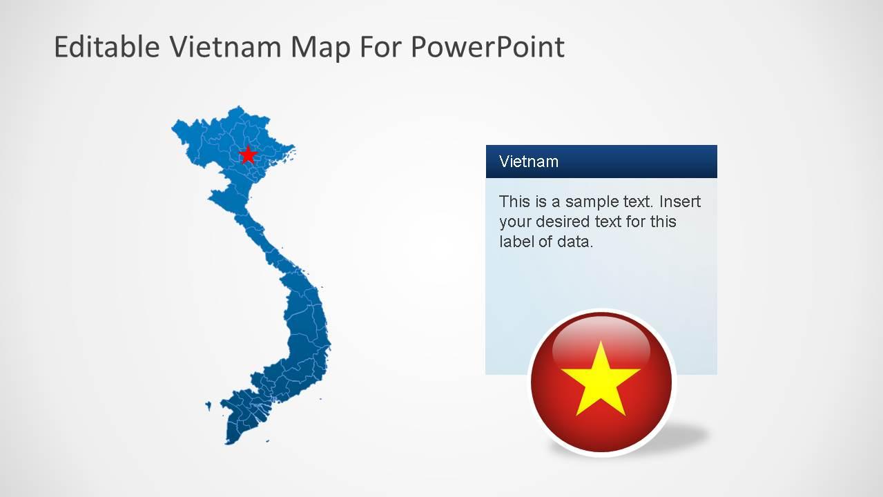 Editable Vietnam PowerPoint Map - SlideModel