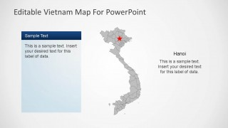Editable Vietnam PowerPoint Map with TextBox