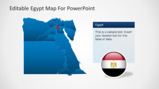 Editable Egypt Map PowerPoint Diagram