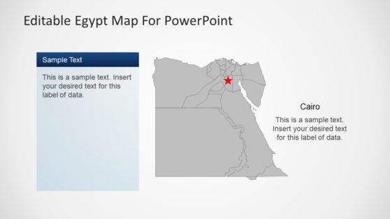 Editable Egypt Map PowerPoint Outline