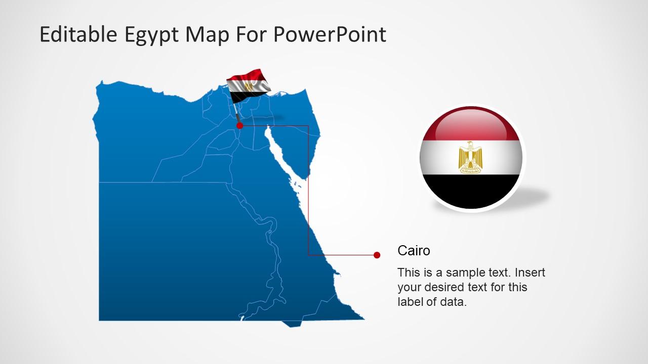 Editable egypt map powerpoint template slidemodel editable egypt map powerpoint template with flag toneelgroepblik Choice Image