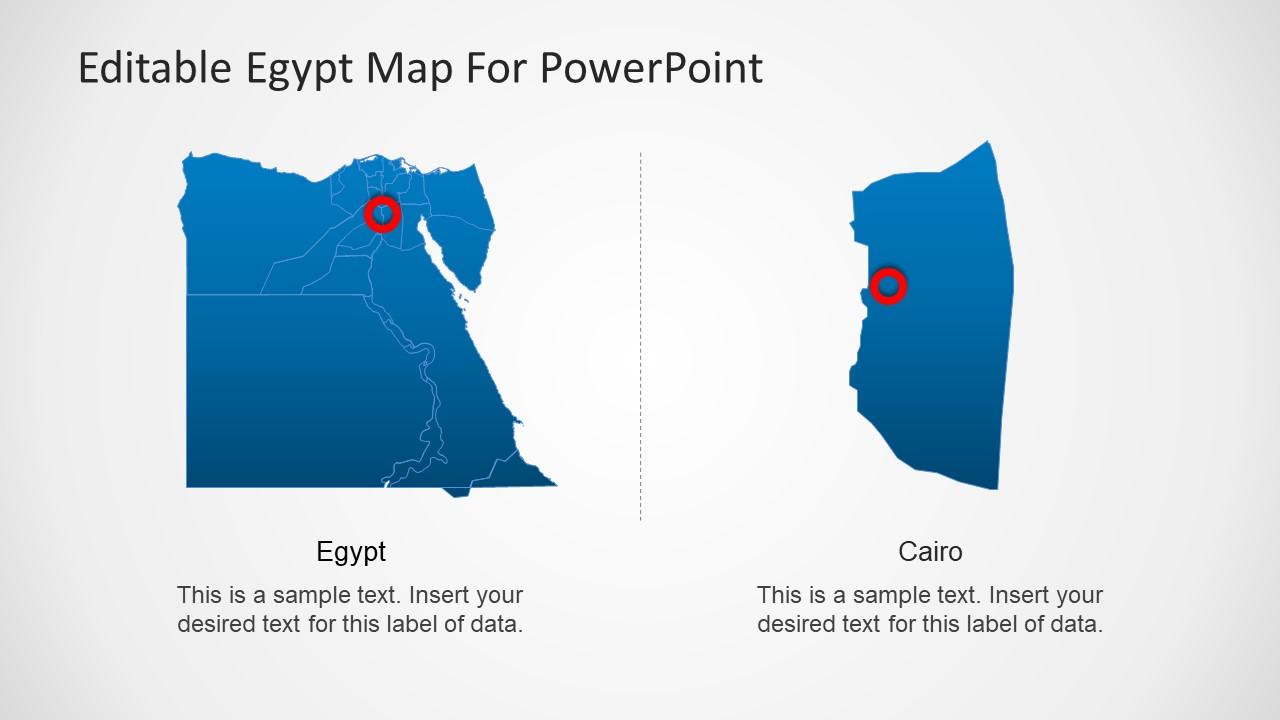 Editable egypt map powerpoint template slidemodel editable egypt map powerpoint template with capital toneelgroepblik Choice Image