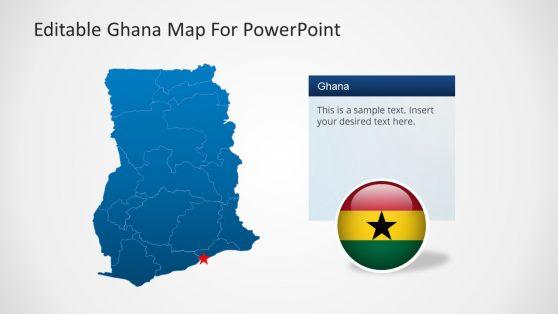 Editable Ghana Map PowerPoint Template