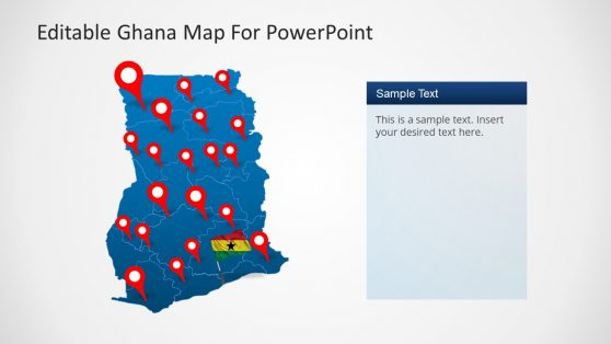 Editable Ghana Outline Map PowerPoint