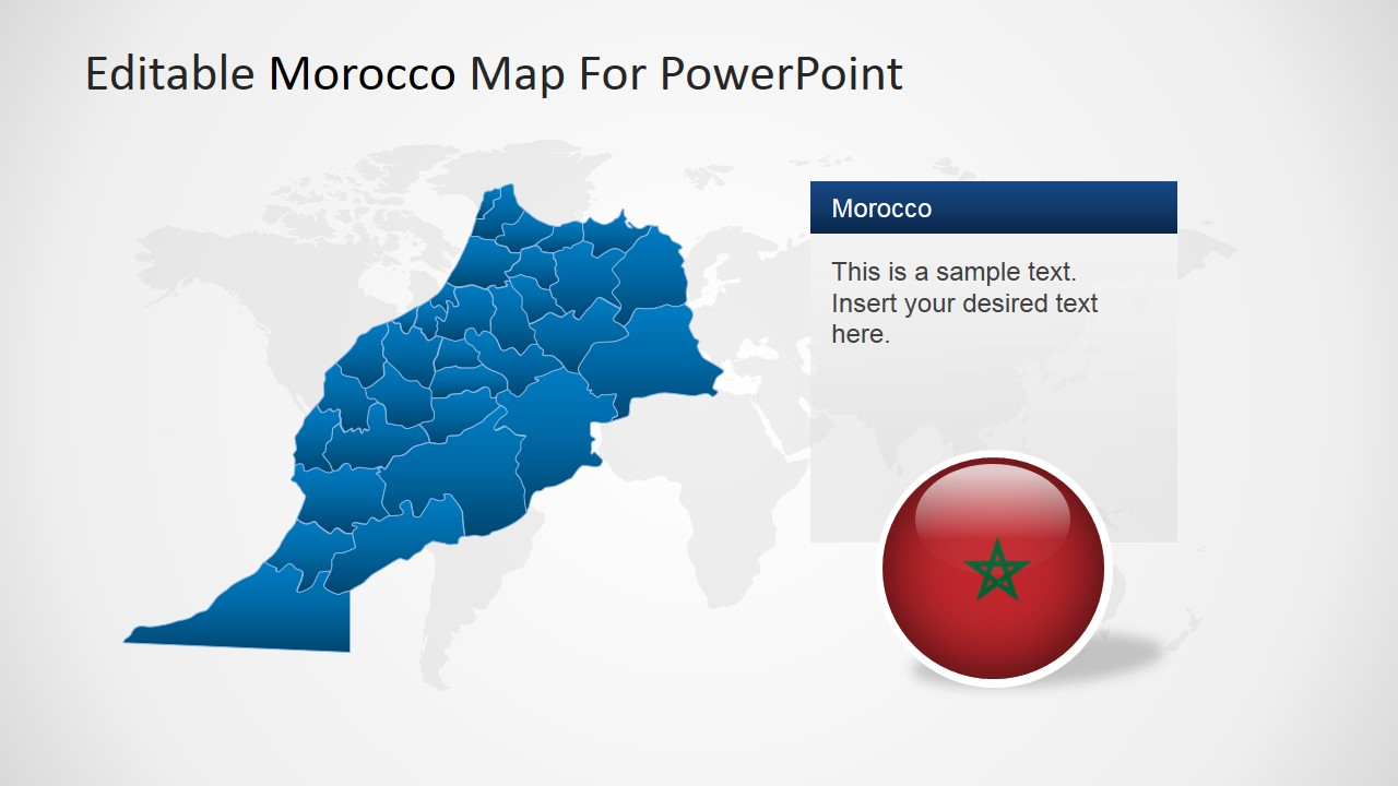 PowerPoint Map of Morocco and States