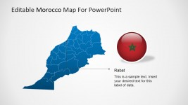 Morocco PowerPoint Map with Rabat Marker