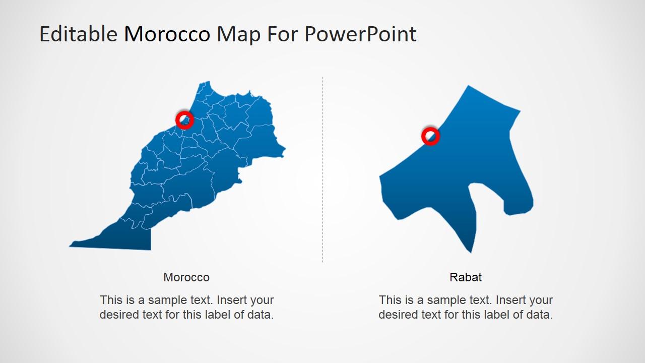 editable morocco powerpoint map slidemodel
