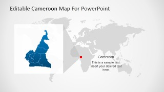 PowerPoint World Map with Cameroon Magnified