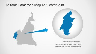 PowerPoint Map of Cameroon with State Shape Highlight