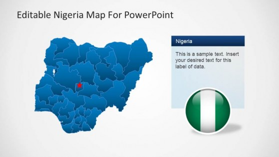 Editable Nigeria PowerPoint Map Abuja