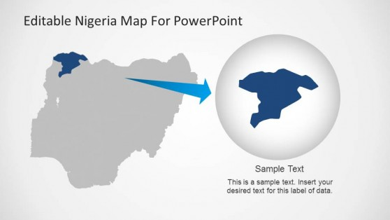 Editable Nigeria PowerPoint Map State Highlight