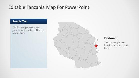 Kenya powerpoint templates editable tanzania powerpoint map with gray background toneelgroepblik Images