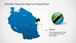 Editable Tanzania PowerPoint Map Dodoma