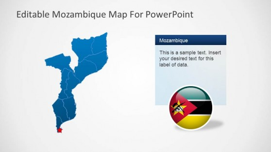 Editable Mozambique Map PowerPoint Template Political