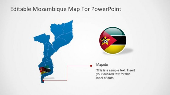 Editable Mozambique Map PowerPoint Template Maputo