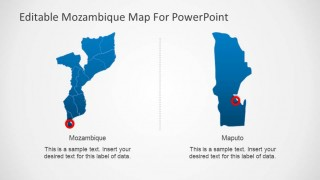 Editable Mozambique Map PowerPoint Template Capital City