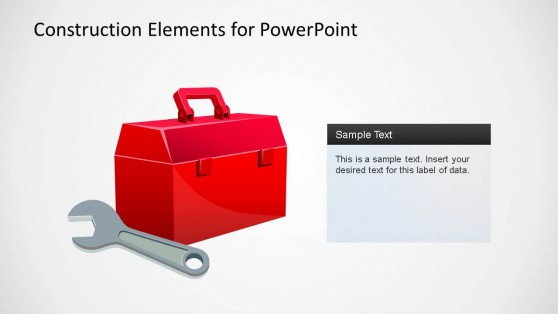 Construction Elements PowerPoint Shape Tools Box