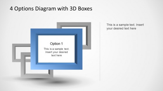 3D PowerPoint Square With Depth Effect