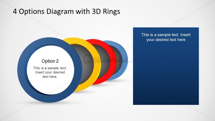 4 Options Ring Template for PowerPoint