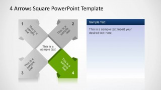 4 Arrows Square PowerPoint Template Fourth Arrow
