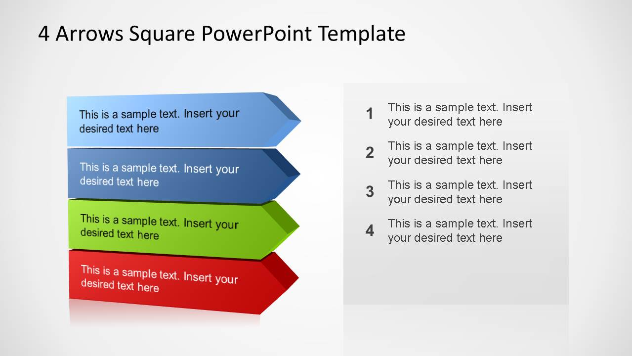 4 arrows square powerpoint template slidemodel for 4 sq