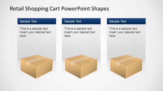 Retail Shopping Cart PowerPoint Shapes Packages