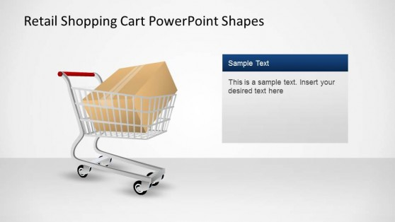 Shopping Cart with Package PowerPoint Shapes