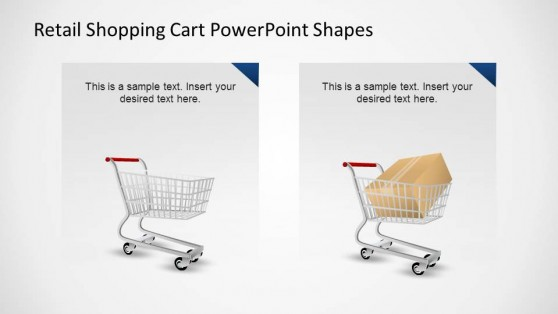 Retail Shopping Cart PowerPoint Shapes comparison
