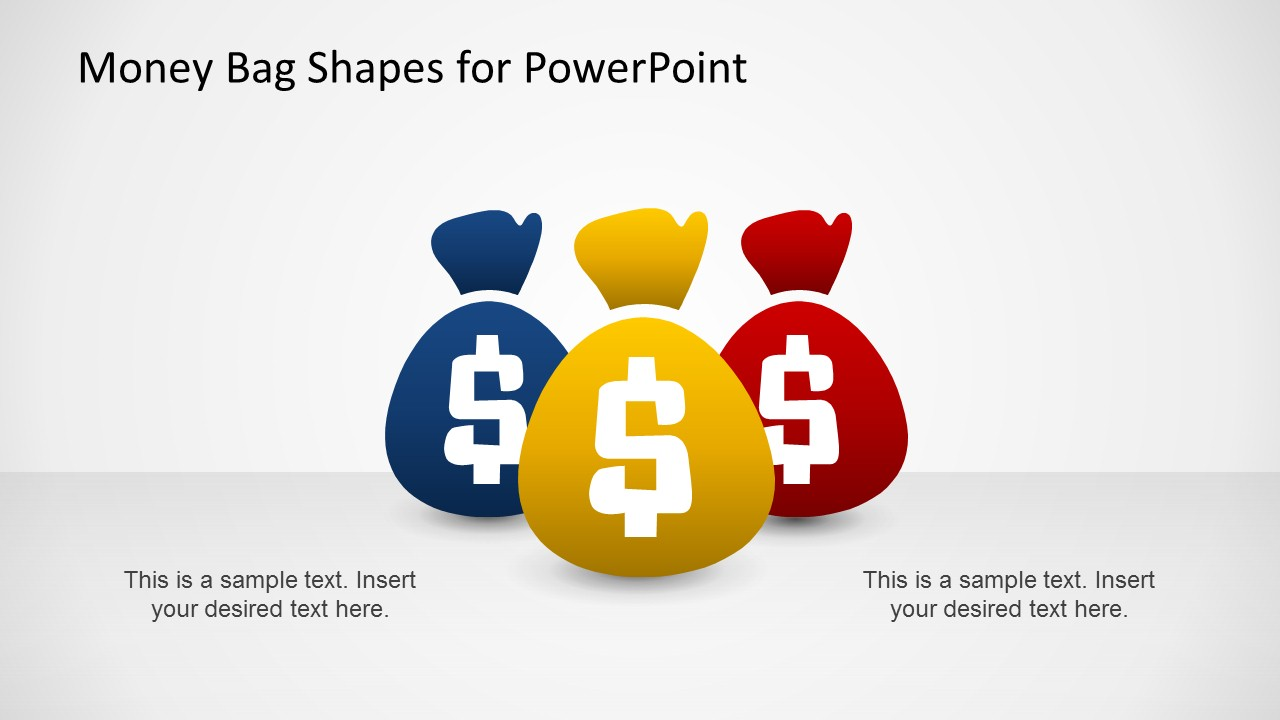 Money Bag Shapes For Powerpoint