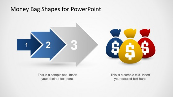 3 Steps Money Arrow Process for PowerPoint