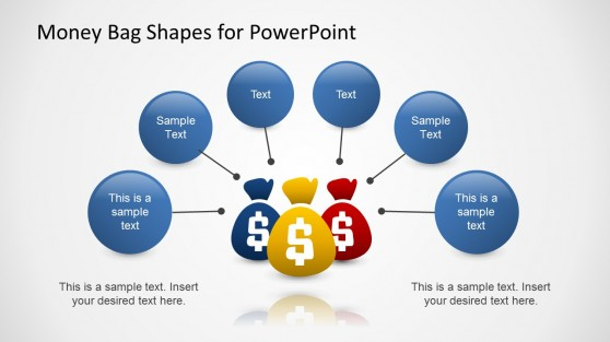 Contributing Factors with Money Bag Slide Design for PowerPoint