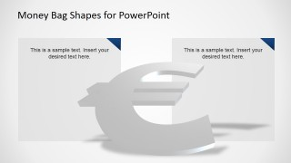 3D PowerPoint Euro Currency Symbol