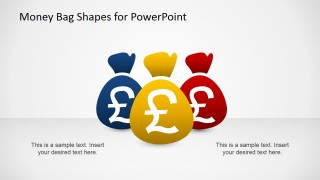 Three PowerPoint Money Bags Clipart With Pound Currency