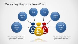 PowerPoint Pound Money Bags Shapes with Text Boubles