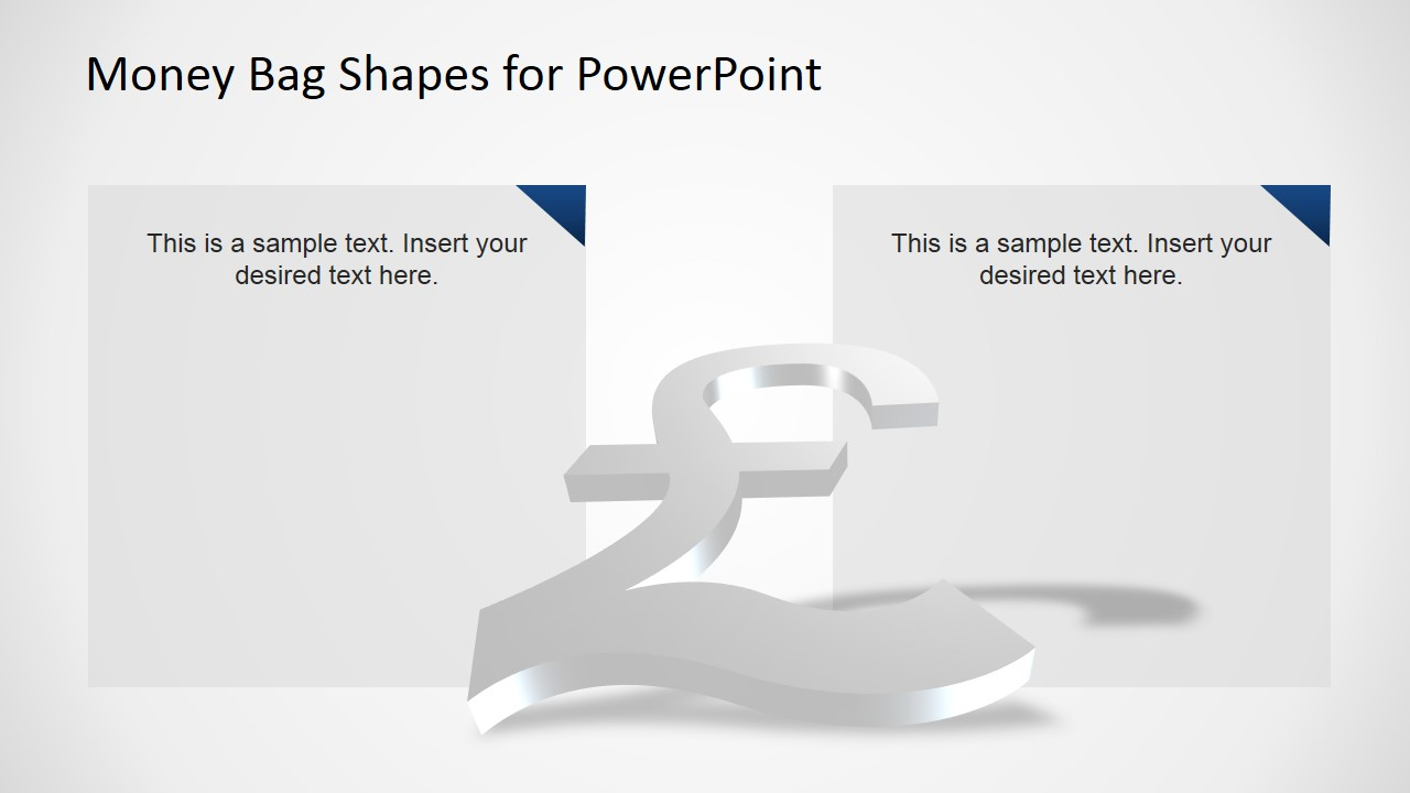 3D PowerPoint Background of British Pound Currency Symbol