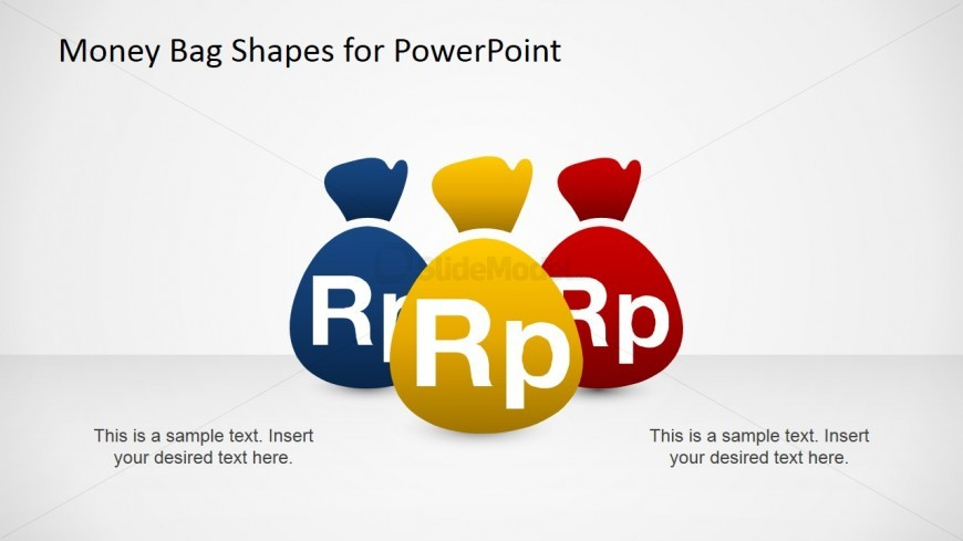 PowerPoint Clipart Money Bugs with Indonesia Rupiah