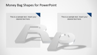 PowerPoint 3D Effect over Rupiah Currency Symbol Icon