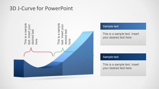 3D J-Curved Area Chart Slide Design for PowerPoint