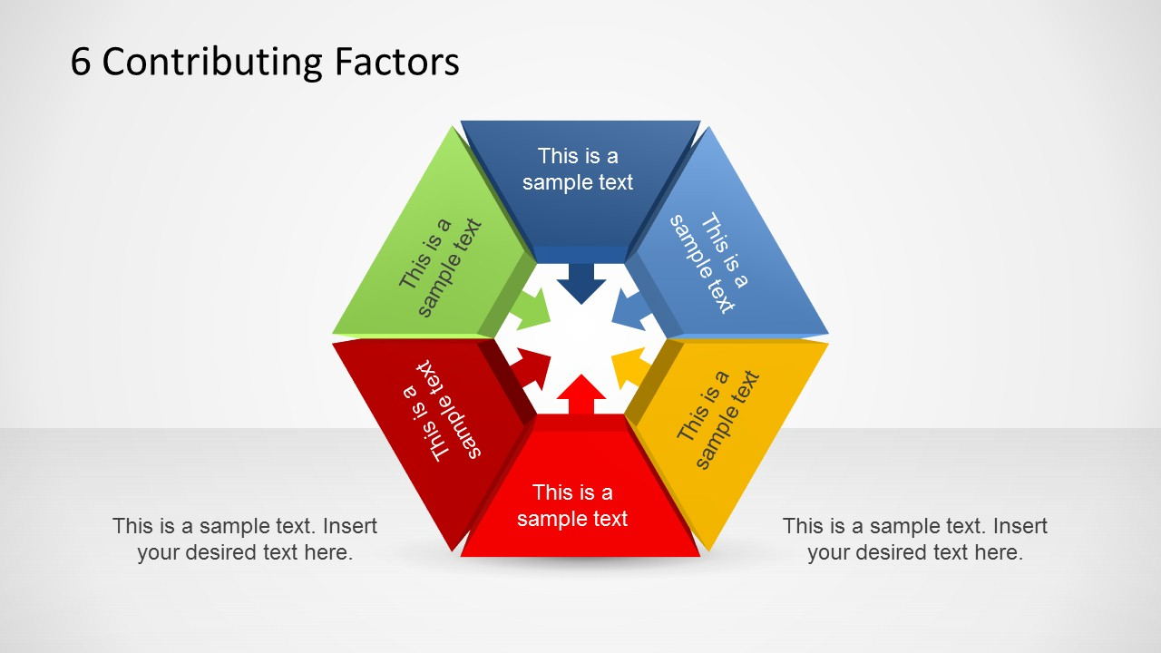 Hexagon Shape Templates For Powerpoint Title Star 8 Keywords Ppt Drawing Diagrams 6 Contributing Factors Diagram Template