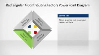 Rectangular 3D  Contributing Factors PowerPoint Template