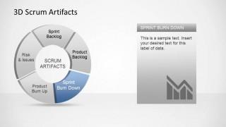 3D Agile Scrum Artifacts PowerPoint Diagram Sprint Burndown