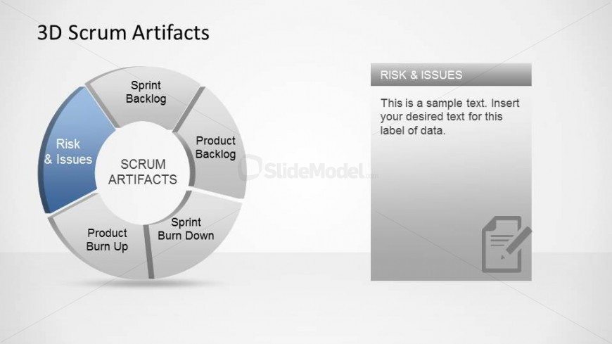 3D Agile Scrum Artifacts PowerPoint Diagram Impediments - SlideModel