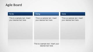 3D Agile Scrum PowerPoint Diagram Board